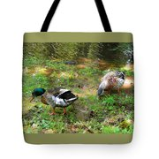 Pair Of Mallard Duck 6 Tote Bag