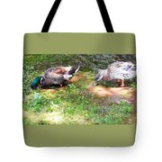 Pair Of Mallard Duck 8 Tote Bag