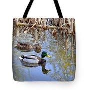 Pair Of Mallard Ducks Tote Bag