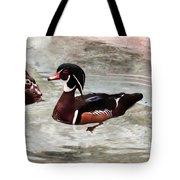 Pair Of Wood Ducks Tote Bag