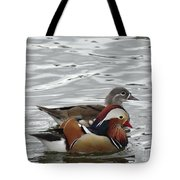 Paired Wood-ducks Tote Bag