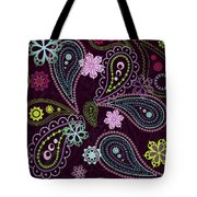 Paisley Abstract Design Tote Bag