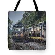 Pal Military Train Roll-by Tote Bag