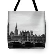 Palace Of Westminster And Elizabeth Tower Tote Bag