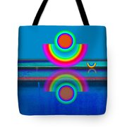 Pale Blue Reflections Tote Bag