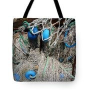 Pale Blue Rider Tote Bag