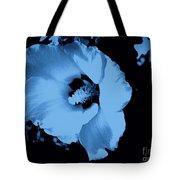 Pale Blue Tinge Hibiscus Flower Tote Bag