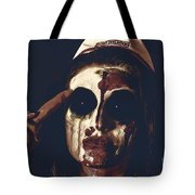 Pale Ghost With Black Eyes Thinking Up Bad Idea Tote Bag