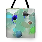Pale Pastel Whites Gray Background Angles Rounds Blues Grays Yellow Orange Black Greens 2 9132017 Tote Bag