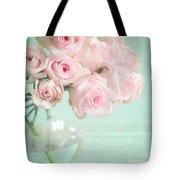 Pale Pink Roses Tote Bag