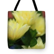Pale Soft And Yellow Flower Abstract At Sunset Tote Bag