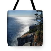 Palisade Head Lake Superior Minnesota Winter Afternoon Tote Bag