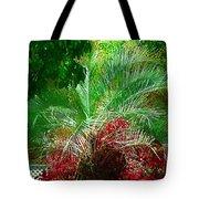 Palm And Azaleas Tote Bag
