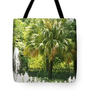 Palm And Fountain Tote Bag