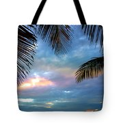 Palm Curtains Tote Bag