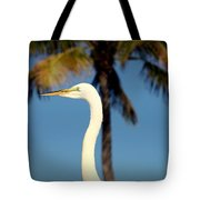 Palm Egret Tote Bag