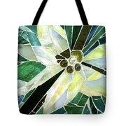 Palm Flower Mosaic Tote Bag