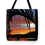Palm Framed Sunset Tote Bag
