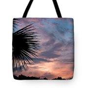 Palm Frond At Dusk Tote Bag