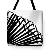 Palm Frond Black And White Tote Bag