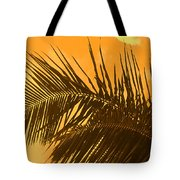 Palm Frond Sunset Tote Bag