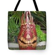 Palm Frond Tiki Tote Bag