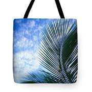 Palm Fronds And Clouds Tote Bag