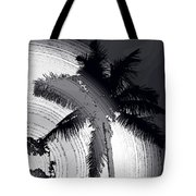 Palm In Grey Tote Bag