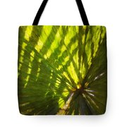 Palm Leaves And Morning Light Tote Bag