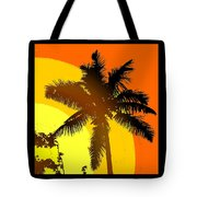 Palm On The Half Shell Tote Bag