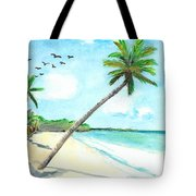 Palm Over Diani Beach Tote Bag