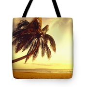 Palm Over The Beach Tote Bag