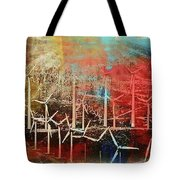 Palm Springs California  Windmill Tote Bag
