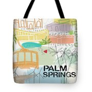Palm Springs Cityscape- Art By Linda Woods Tote Bag by Linda Woods