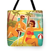 Palm Springs Poster - Retro Travel Tote Bag by Jim Zahniser