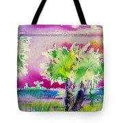 Palm Sunrise Tote Bag