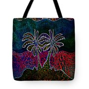 Palm Tree Abstraction Tote Bag