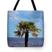 Palm Tree By The Lake Tote Bag