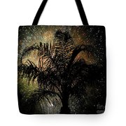 Palm Tree Fireworks Tote Bag