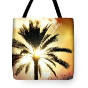 Palm Tree In The Sun #2 Tote Bag