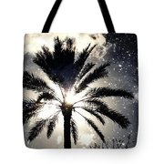 Palm Tree In The Sun #3 Tote Bag