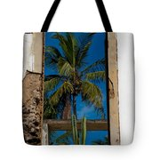Palm Tree In The Window Tote Bag