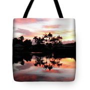 Palm Tree Inlet 2 Tote Bag