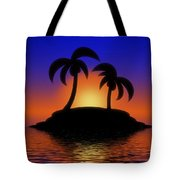 Palm Tree Island Tote Bag