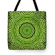 Palm Tree Kaleidoscope Abstract Tote Bag