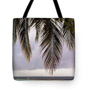 Palm Tree Leaves At The Beach Tote Bag