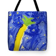 Palm Tree And Stars Tote Bag