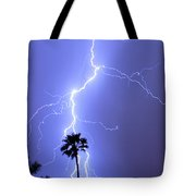 Palm Tree On Strike Tote Bag