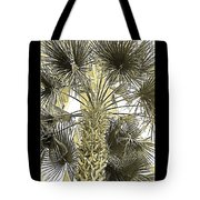 Palm Tree Pen And Ink Grayscale With Sepia Tones Tote Bag