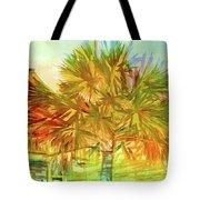 Palm Tree Portrait Tote Bag